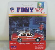 """New york Fire Department (FDNY) Chief's Car """"DieCast"""" 1/43"""