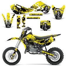 Decal Graphic Kit Kawasaki KLX110 KX65 KX Dirt Bike Suzuki RM65 DRZ110 REAP YLLW