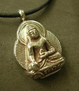 Wunderschönes 925er SILBER BUDDHA AMULETT aus TIBET