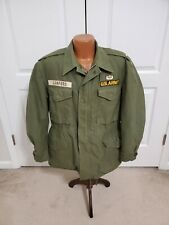 Us Army Coat Mans Cotton Water Repellent Treated Wind Resistant Og-107 W Liner