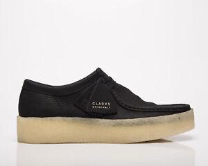 Clarks Originals Wallabee Cup Men's Black Nubuck Casual Lifestyle Shoes Boots
