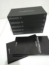 Pimsleur Approach Spanish #1 2 3 4 5 Gold Comprehensive Courses 80 audio CD's