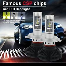 H4/HB2/9003 Car LED Headlight Hi/Lo 6000LM Fog Light Lamp Bulb X3 50W 3 Colors