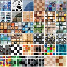 10/30pcs Kitchen Tile Stickers Bathroom Mosaic Sticker Wall Decors Self-adhesive