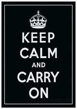 KC03 KEEP CALM AND CARRY ON A4 POSTER PRINT