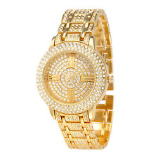 Alias Kim Gold Crystal Round Face Dial Lady Women Wrist Quartz Luxury Watch F161