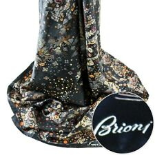 BRIONI Tuareg Tribal Square Black Hand Made Silk Shawl Wrap Scarf Headscarf $495