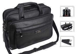 Mens Laptop Bag Briefcase Messenger Office Work Shoulder Bag Faux Leather 624