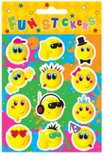 6 Sheets of 12 SMILEY FACE STICKERS