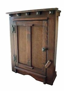 Handmade Arts & Crafts, Mission,  Rustic Wood Wall Cabinet