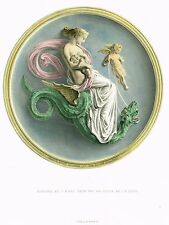 "Art Treasures of England - ""NIGHT'S SWIFT DRAGONS"" - Hand-Colored Litho -1876"