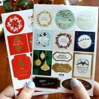 Christmas Decor Gift Paper Stickers DIY Gift Tags Labels For New Year Presents P