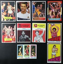Lot of 10 Basketball Rookie Reprint Cards - Mint