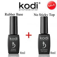 KIT! RUBBER BASE + NO STICKY TOP 8ml. Kodi Professional - Gel LED/UV Gummi Basis
