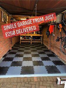 Single Garage Pack 5x3m - interlocking pvc garage floor tiles