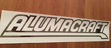 Alumacraft boat decals (pair) in Chrome vinyl 22 inch sticker