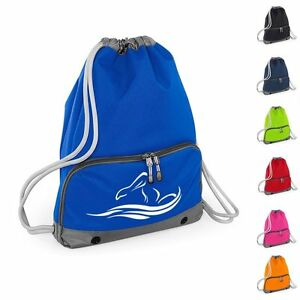 Good Quality Swimming Motif Gym Swim Bag Drawstring Backpack 7 Colours