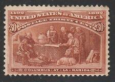 Kappysstamps Columbian Scott# 239 Mint Hinged Small Adhesion Retail $240 Ks3867
