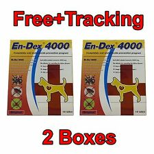 2 Boxes Pet-tablet pill En-Dex 4000 Remove prevent ticks and flea for dogs&cats.