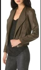 Helmut Lang Leather Jacket Size M Khaki Women's Lamb Skin