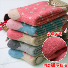 5pair/Lot Sale Women Winter Socks Thick-Added Cotton Polyester Spandex Blend