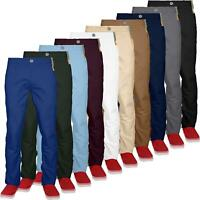 Mens Stretch Chino Jacksouth Designer Regular Fit Straight Leg Trousers Cotton