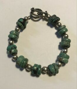 SILPADA - B0613 - Turquoise Stone & Sterling Silver Bracelet RARE