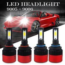 AUXITO 4Pcs 9005 9006 Combo Total 320000LM LED Headlight Kit High-Low Beam 6500K