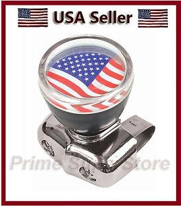 USA Flag Universal Steering Wheel Spinner Handale Car/ Truck Suicide Power Knob