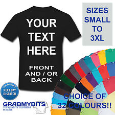 CUSTOM PERSONALISED DESIGN YOUR OWN T SHIRTS STAG HEN HOLIDAY - MENS