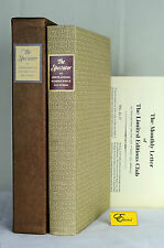 Limited Editions Club The Spectator Joseph Addison Steele LEC Illustrated Signed
