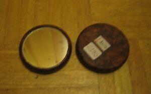 Handmade thuya wood hand mirror from Morocco