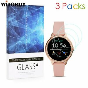 For Fossil Gen 5E 42mm 9H Hardness Tempered Glass Screen Protector 3 Packs
