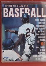 1963 WILLIE MAYS SAN FRANCISCO GIANTS BASEBALL MAGAZINE COVER
