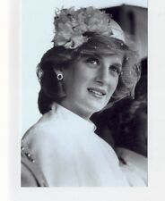 mm88 - Princess Diana in net hat - Royalty photo 6x4