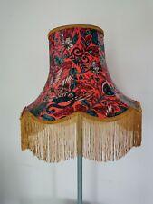 Emma J Shipley Red amazon lampshade gold fringe standard lamp/ceiling pendant