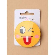 NEW 5cm Yellow circle emoji wink beak hair clip fashion