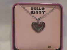 HELLO KITTY GIRLS HEART PENDANT STAINLESS STEEL NECKLACE NWT $35