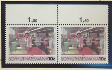 Bophuthatswana (South Africa) Stamps Scott #143 and 148 Pairs, Mint Never Hinged