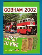 Bus Rally Programme & Guide ~ Cobham 2002 - London Bus Preservation Trust