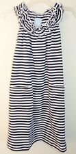 New W/Tags Bella Bliss Ruffled Scoop Neck Navy/White Stripe Dress Girl's Sz 2