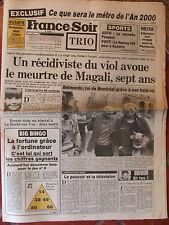 France Soir n°12683 (24 mai 1985) Robert Guinet - Ronan Le Scouezec - Kaprisky