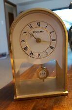 BUCHERER GERMANY MANTLE SHELF TABLE DESK CLOCK Roman Vintage