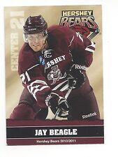 2010-11 Hershey Bears (Ahl) Jay Beagle