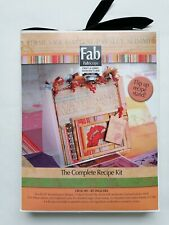 FabScraps The Complete Recipe Kit with Flip Up Recipe Stand *new*