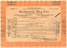 National Tea Co   1926 Illinois stock certificate