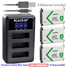 NP-BX1 Battery or Triple charger for Sony Cyber-shot DSC-HX80 HX90 HX90V RX1R II