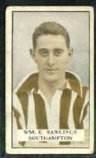 (Gd17-170) Gallaher, Famous Footballers, #36 W.E.Rawlings, Southampton 1925 G-VG