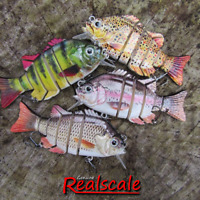Genuine REALSCALE Savage jointed Countdown Swimbait pike Perch trout lure Gear!