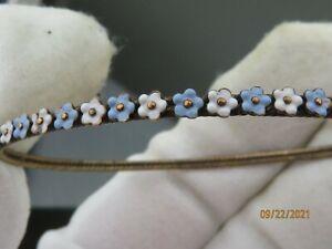 Antique Victorian Enamel flowers14K Gold bracelet scrap price not scrap